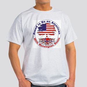American-Norwegian Roots Ash Grey T-Shirt