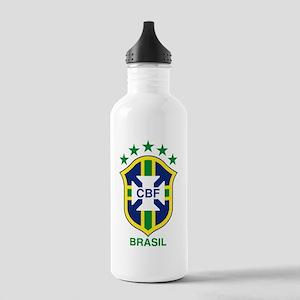 brazil soccer logo Stainless Water Bottle 1.0L