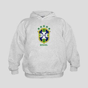 brazil soccer logo Kids Hoodie