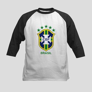 brazil soccer logo Kids Baseball Jersey