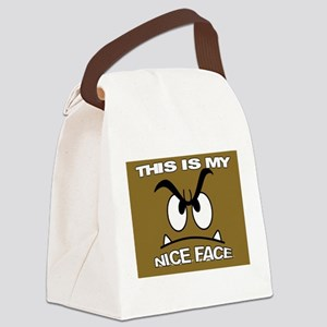 NICE FACE Canvas Lunch Bag