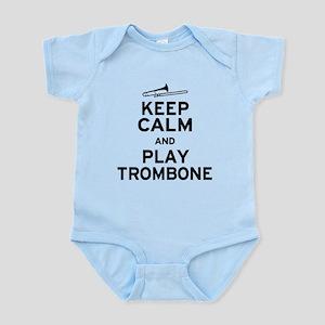 Keep Calm Play Trombone Infant Bodysuit