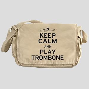 Keep Calm Play Trombone Messenger Bag