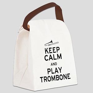 Keep Calm Play Trombone Canvas Lunch Bag
