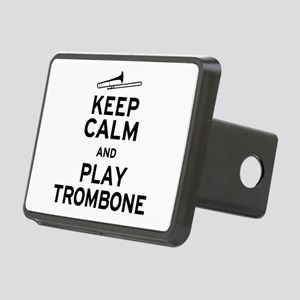 Keep Calm Play Trombone Rectangular Hitch Cover