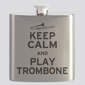 Keep Calm Play Trombone Flask