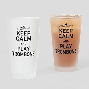 Keep Calm Play Trombone Drinking Glass