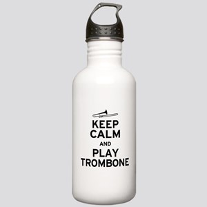 Keep Calm Play Trombone Stainless Water Bottle 1.0