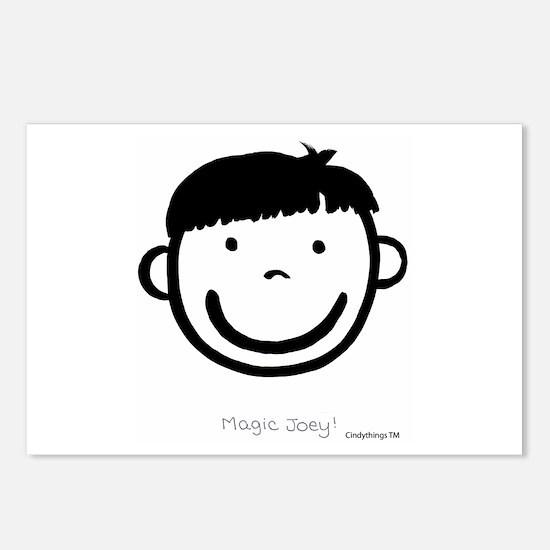 Magic Joey (black) Postcards (Package of 8)