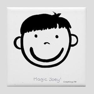 Magic Joey (black) Tile Coaster