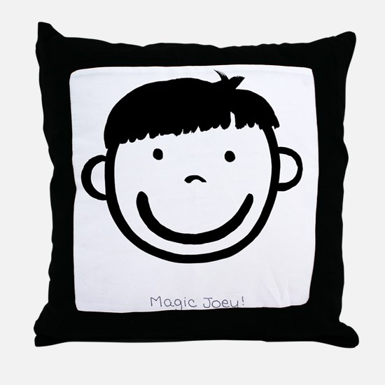 Magic Joey (black) Throw Pillow