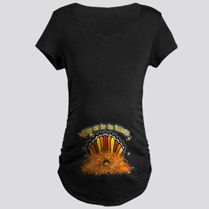 Hiding out Turkey Maternity Dark T-Shirt