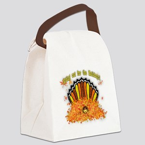 Hiding out Turkey Canvas Lunch Bag