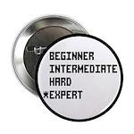 """Retro 8 Bit Expert Mode 2.25"""" Button (10 pack"""