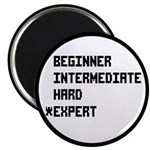 "Retro 8 Bit Expert Mode 2.25"" Magnet (10 pack"