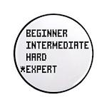 """Retro 8 Bit Expert Mode 3.5"""" Button"""