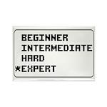 Retro 8 Bit Expert Mode Rectangle Magnet (10 pack)