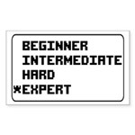 Retro 8 Bit Expert Mode Sticker (Rectangle)