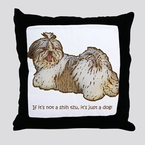 Shih Tzu Pop Art AZ China Basic Throw Pillow