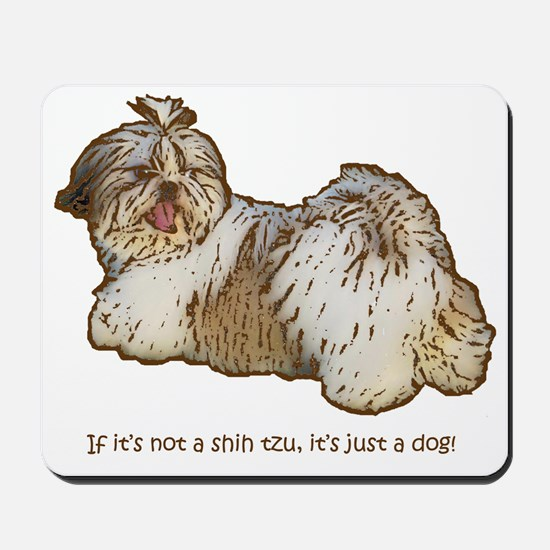 Shih Tzu Pop Art AZ China Basic Mousepad