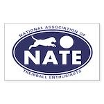 NATE logo Sticker (Rectangle 10 pk)