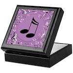 Musician Gift Musical notes Keepsake Box