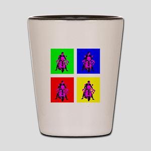 Mod rider pop art Shot Glass