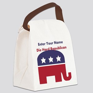 Personalize Die Hard Republican Canvas Lunch Bag