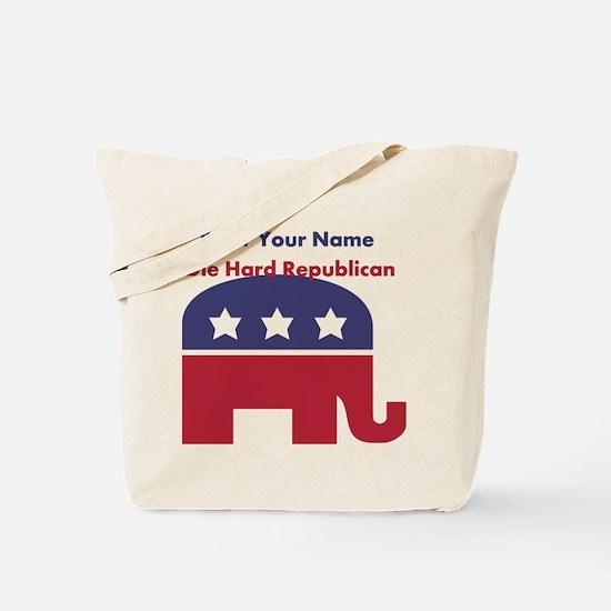 Personalize Die Hard Republican Tote Bag