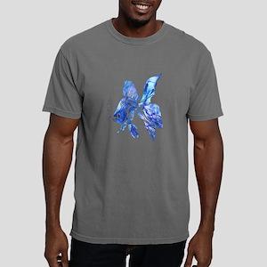 Blue Watercolor Goldfish Mens Comfort Colors Shirt