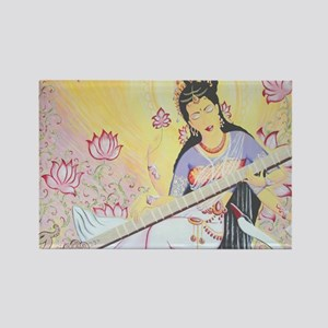 Meditative Sarasvati music Rectangle Magnet