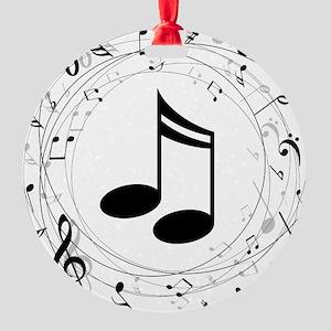 Music Teacher Gift Idea Round Ornament