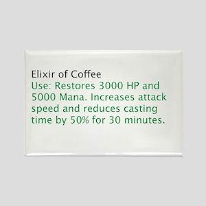 Elixir of Coffee Rectangle Magnet
