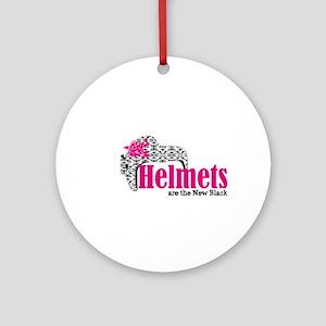 Helmets new bk Ornament (Round)