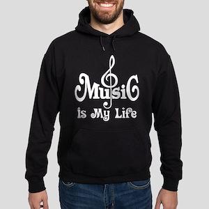 Music Is My Life Quote Hoodie (dark)