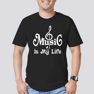 Music Is My Life Quote Men's Fitted T-Shirt (dark)