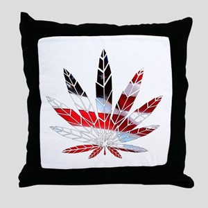 American Weed Throw Pillow