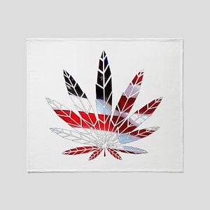 American Weed Throw Blanket