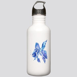 Blue Watercolor Goldfish Water Bottle