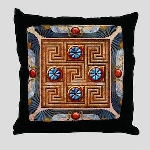 Harvest Moons Egyptian TIle Throw Pillow