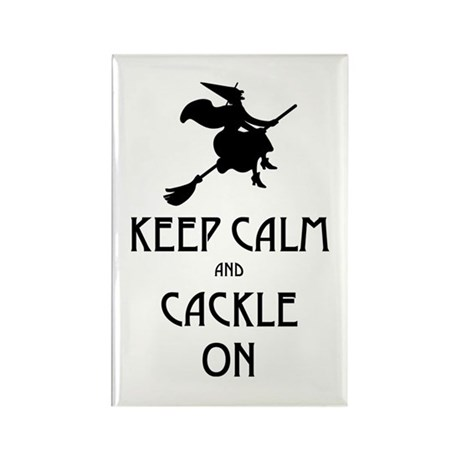 Keep Calm Cackle On Rectangle Magnet (10 pack)