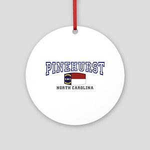 Pinehurst, North Carolina, NC USA Ornament (Round)