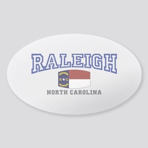 Raleigh, North Carolina, NC USA Sticker (Oval)