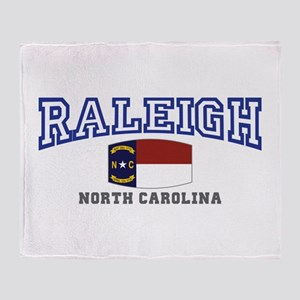 Raleigh, North Carolina, NC USA Throw Blanket