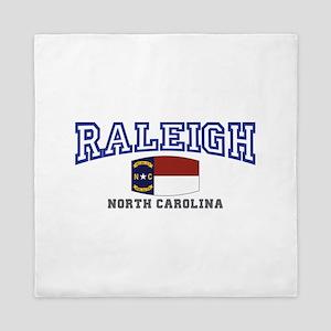 Raleigh, North Carolina, NC USA Queen Duvet