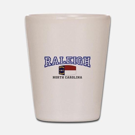 Raleigh, North Carolina, NC USA Shot Glass