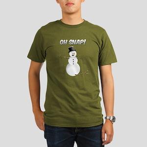 OH SNAP! Snowman Organic Men's T-Shirt (dark)