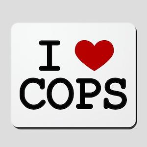 I Love Cops Mousepad