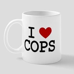 I Love Cops Mug