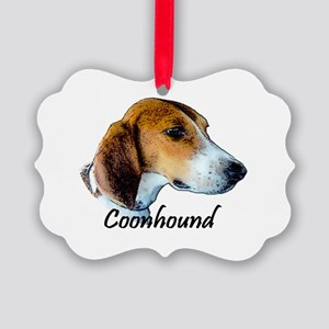 Coonhound I Picture Ornament
